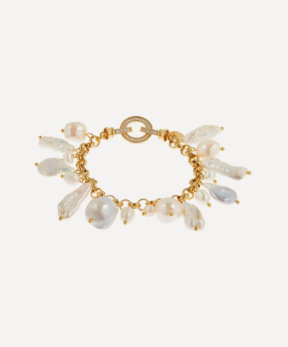 Mayol - Gold-Plated Las Palmas Pearl Charm Bracelet