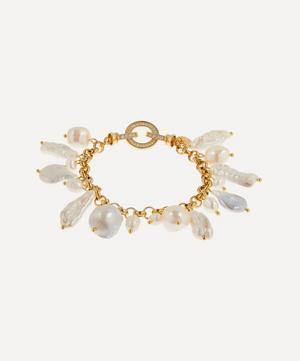 Gold-Plated Las Palmas Pearl Charm Bracelet