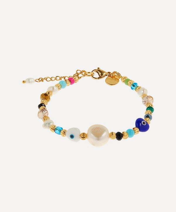 Mayol - Gold-Plated Key Largo Beaded Baroque Pearl Bracelet