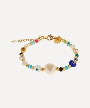Gold-Plated Key Largo Beaded Baroque Pearl Bracelet