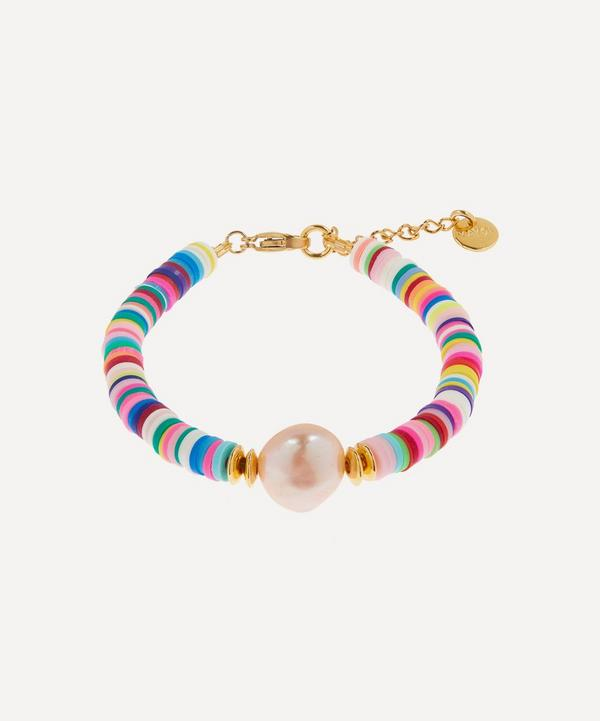 Mayol - Gold-Plated Weekend at Mayol's Beaded Baroque Pearl Bracelet