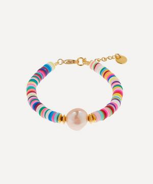 Gold-Plated Weekend at Mayol's Beaded Baroque Pearl Bracelet
