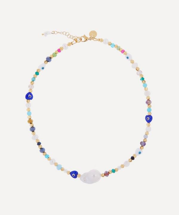 Mayol - Gold-Plated Key Largo Beaded Baroque Pearl Choker Necklace