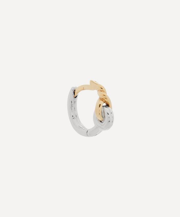 Otiumberg - Mixed Metal Locked Single Huggie Hoop Earring