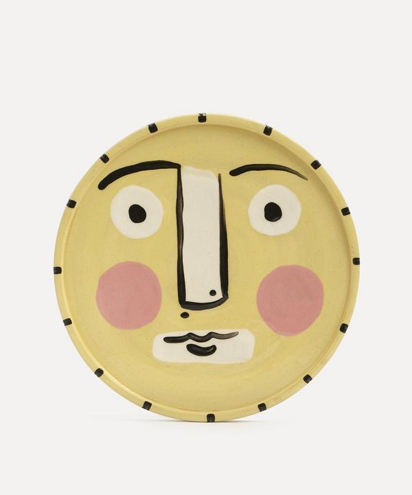K.S. Creative Pottery - Face Side Plate Yellow