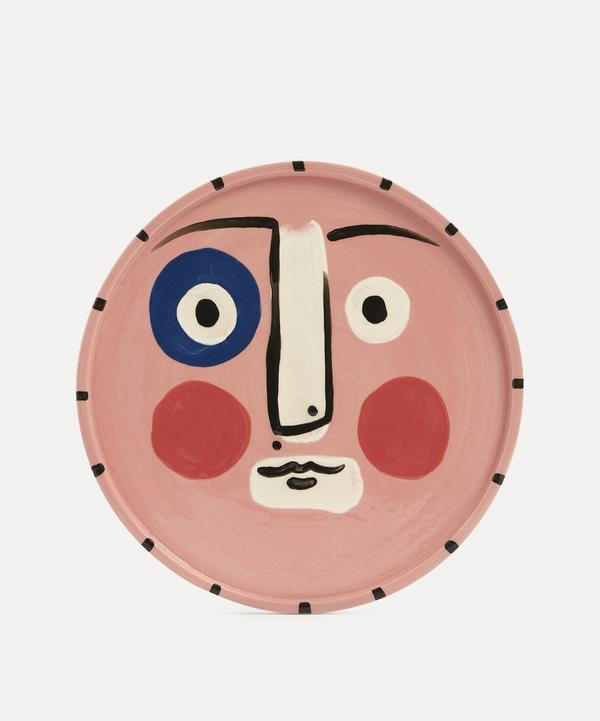 K.S. Creative Pottery - Face Dinner Plate Pink