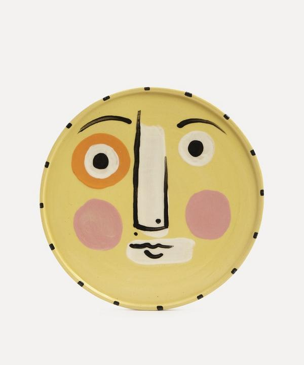 K.S. Creative Pottery - Face Dinner Plate Yellow