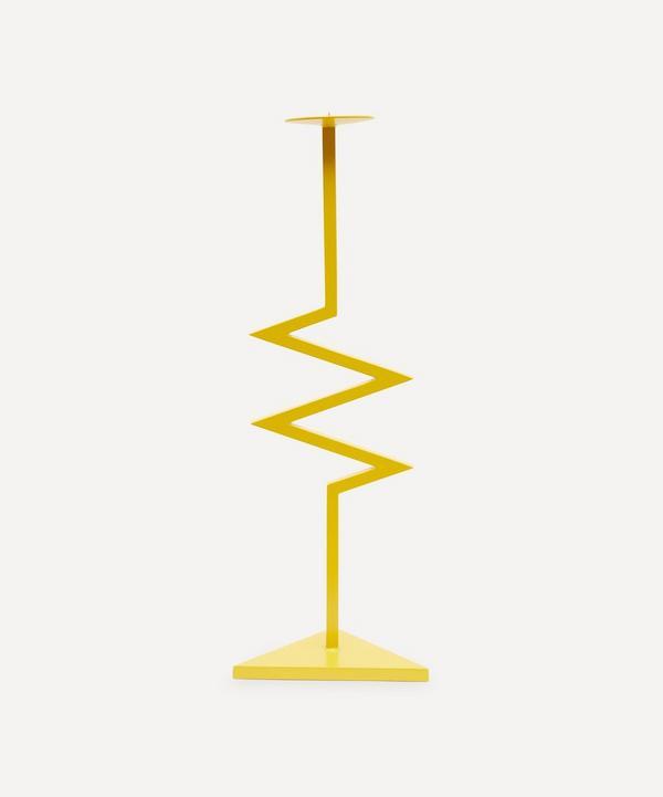 Jermaine Gallacher - Yellow Zig Zag Candlestick Holder