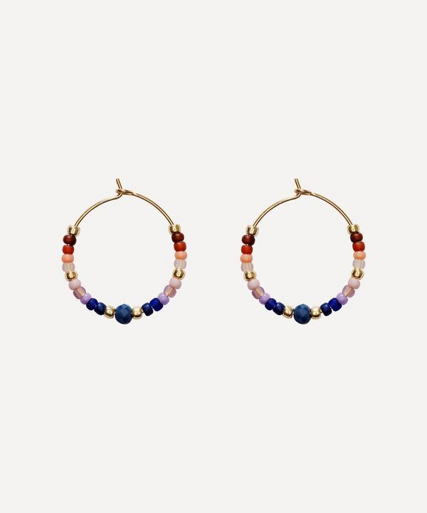 ANNI LU - Gold-Plated Portofino Beaded Hoop Earrings