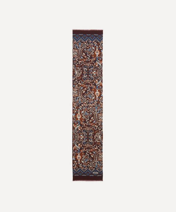Liberty - Harvur Wool-Silk Fringed Scarf
