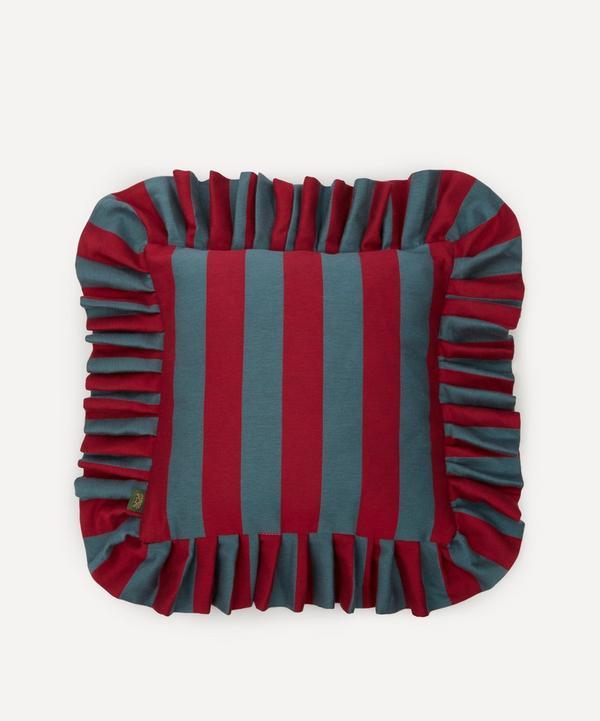 House of Hackney - Camelot Stripe Jacquard Frill Cushion