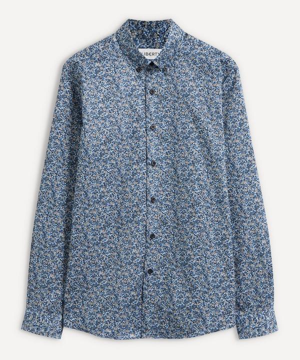 Liberty - Ragged Robin Cotton Twill Casual Button-Down Shirt