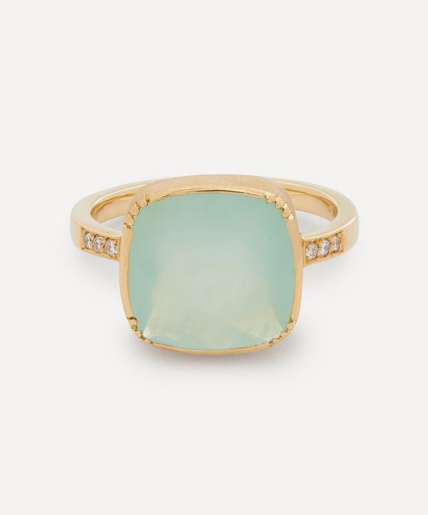 Brooke Gregson - 18ct Gold Square Peruvian Opal Ring