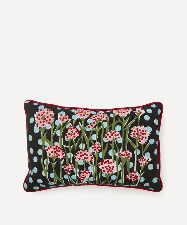 Beth Postle - Midnight Meadow Handprinted Cushion