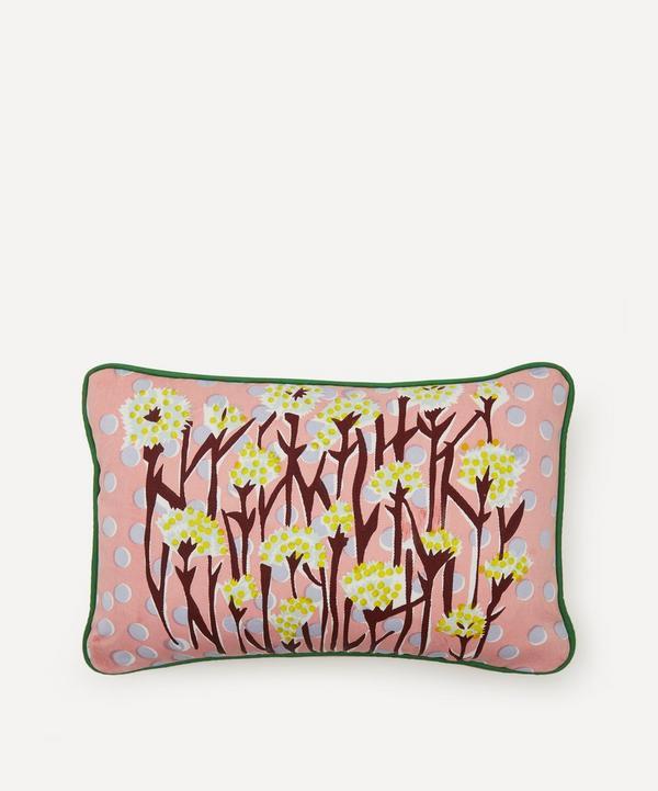 Beth Postle - Spring Meadow Handprinted Cushion