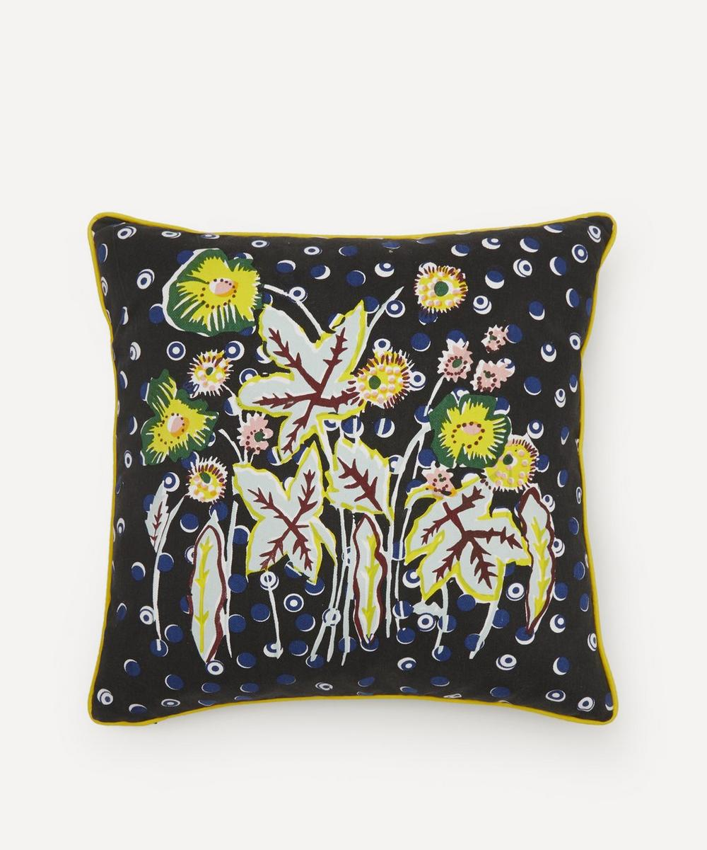 Beth Postle - Midnight Garden Handprinted Cushion