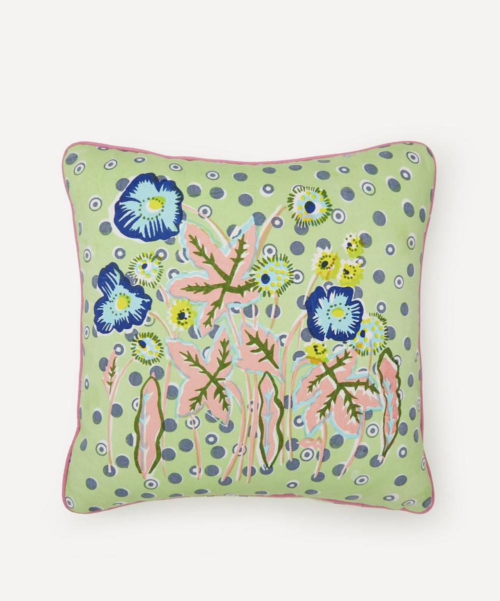 Beth Postle - Spring Garden Handprinted Cushion