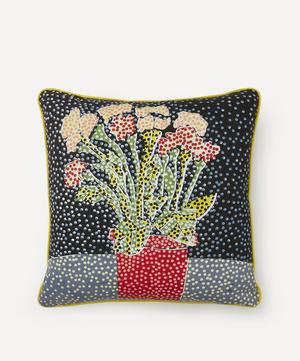 Midnight Potted Plant Handprinted Cushion