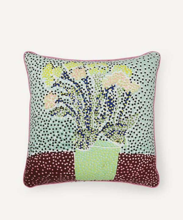 Beth Postle - Spring Potted Plant Handprinted Cushion
