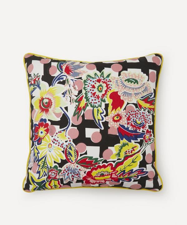 Beth Postle - Midnight Roset Handprinted Cushion