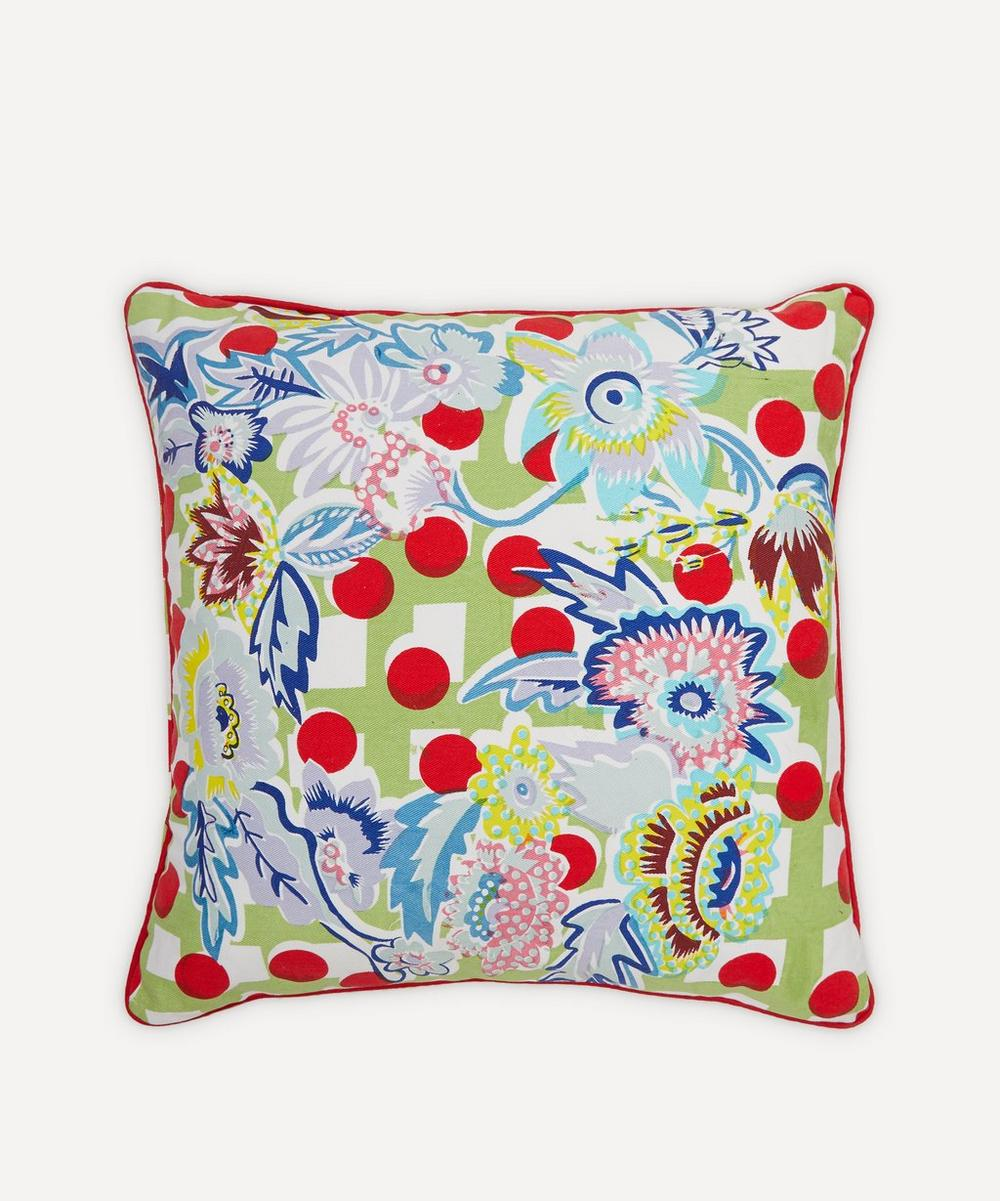 Beth Postle - Spring Roset Handprinted Cushion