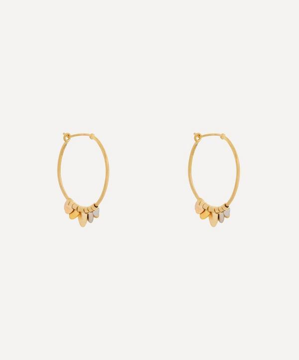 Sia Taylor - 18ct-24ct Rainbow Gold Flutter Hoop Earrings