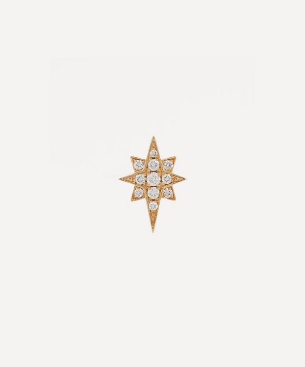 Roxanne First - 14ct Gold Northern Star Diamond Single Stud Earring