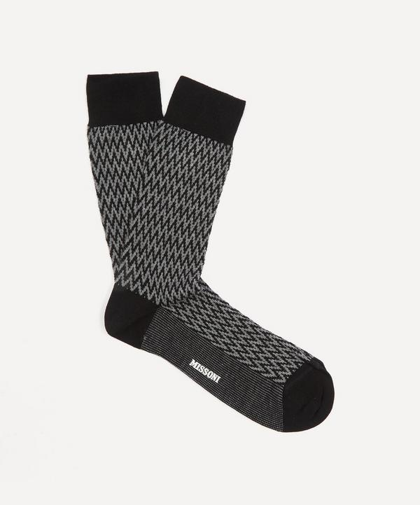 Missoni - Micro Zig-Zag Stripe Cotton-Blend Socks