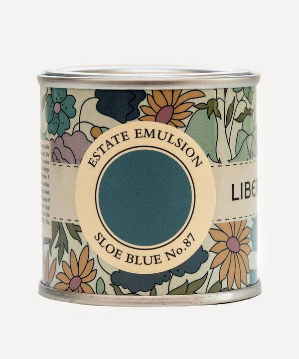 Farrow & Ball - Curated by Liberty Sloe Blue No.87 Estate Emulsion Sample Paint Pot 100ml