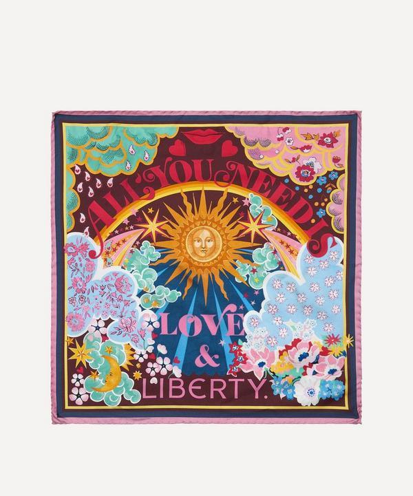 Liberty - All You Need Is Love & Liberty 45 x 45cm Silk Twill Scarf