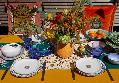 Summer dining table setting ideas
