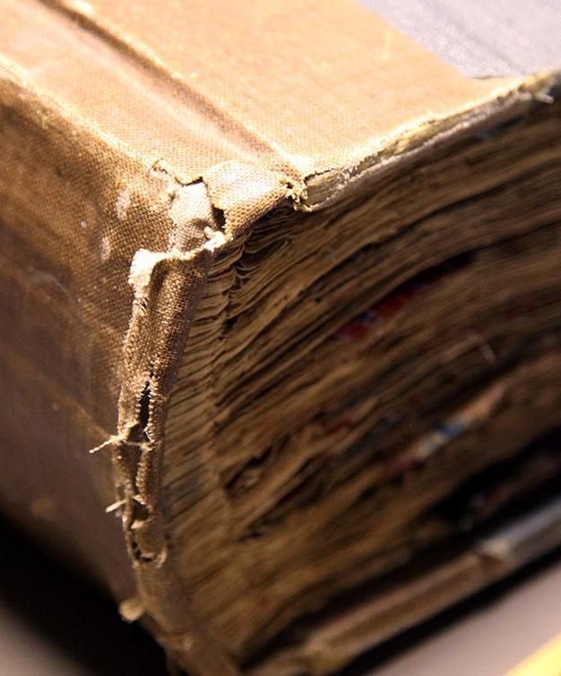 spine of archive book