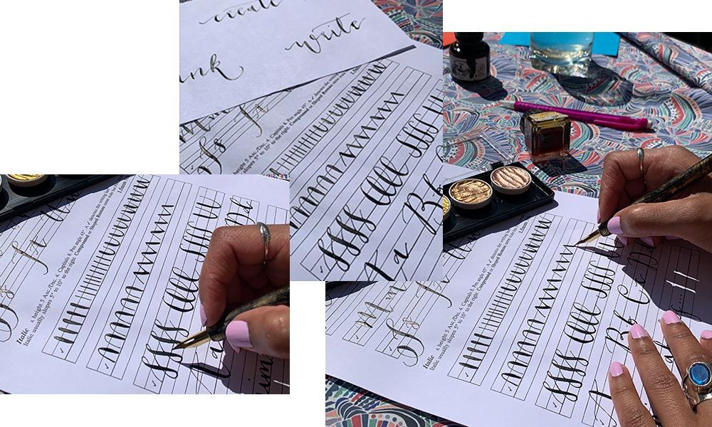 Calligraphy marking