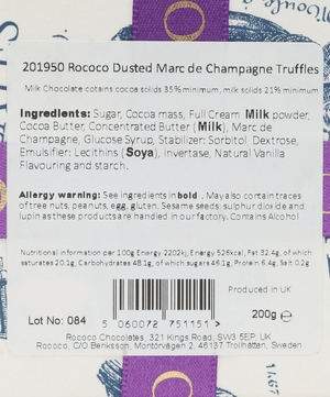 Dusted Marc de Champagne Truffles 200g
