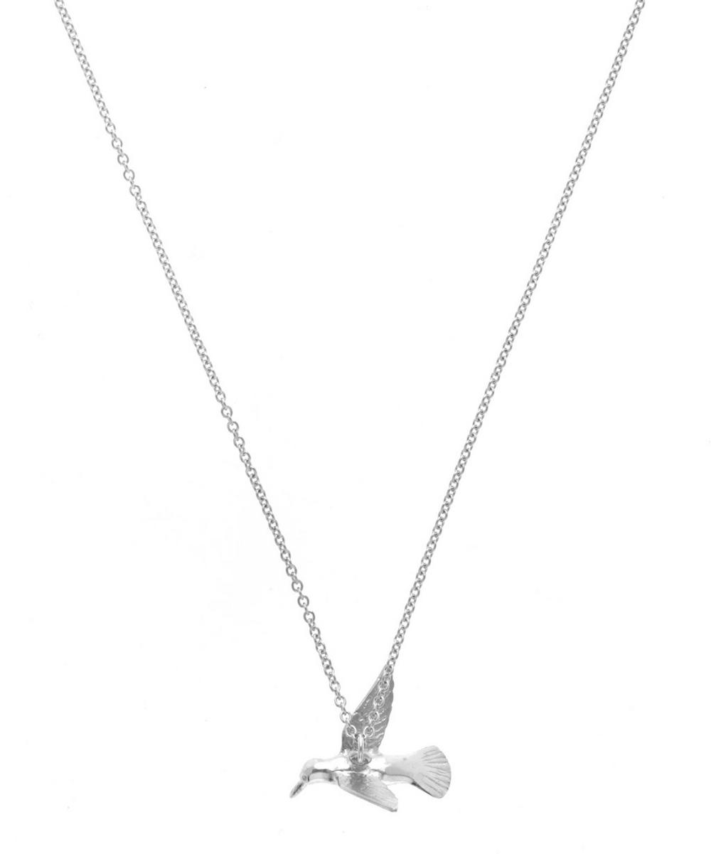Silver Hummingbird Necklace