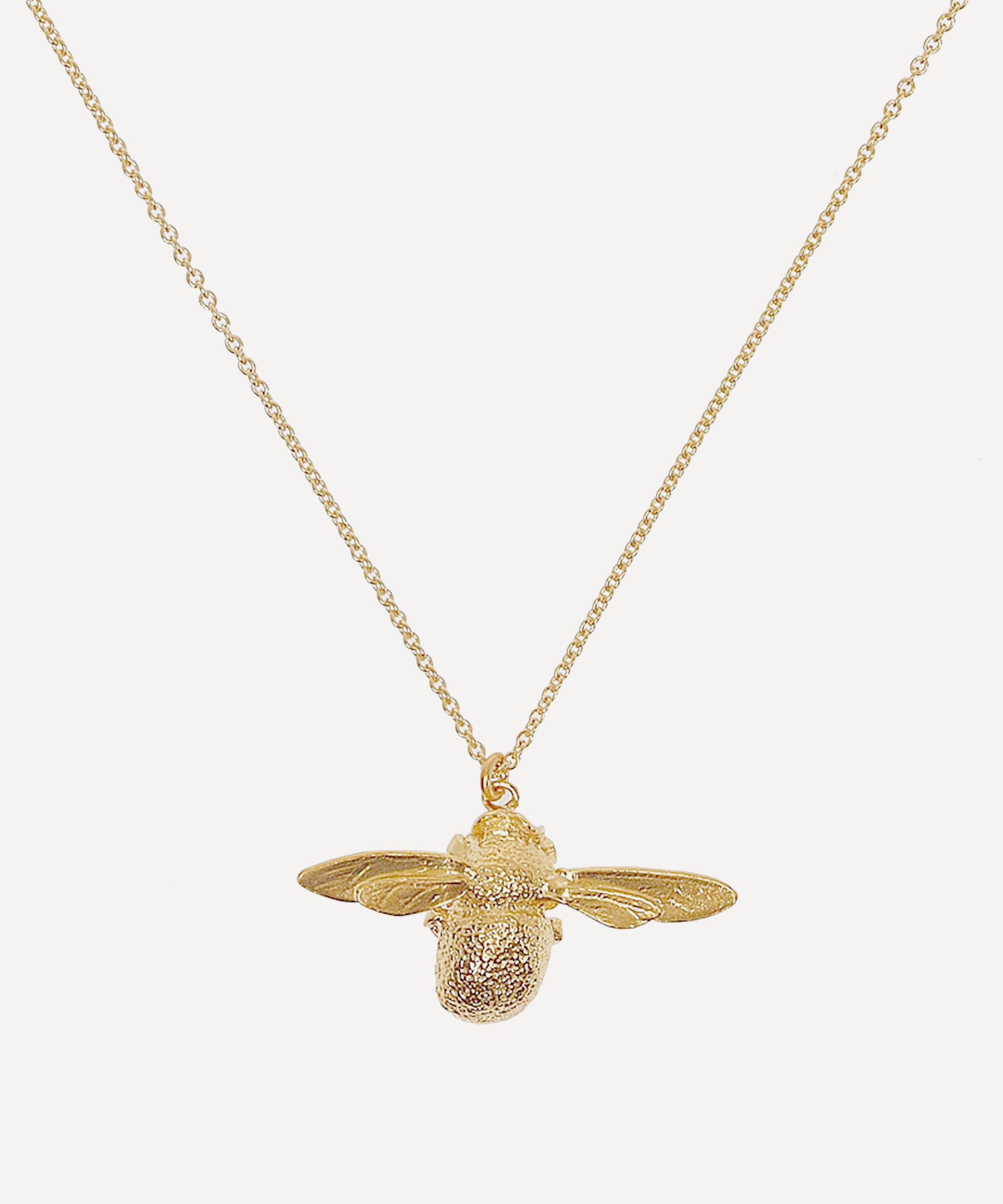 bf26a09467cc3 Gold-Plated Bumblebee Necklace