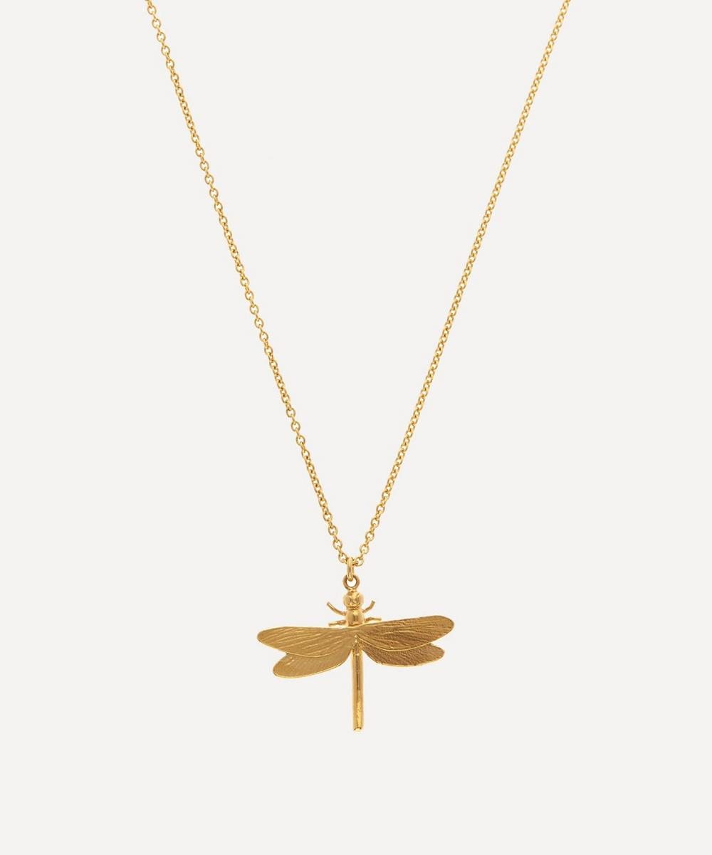 Alex Monroe - Gold-Plated Dragonfly Pendant Necklace