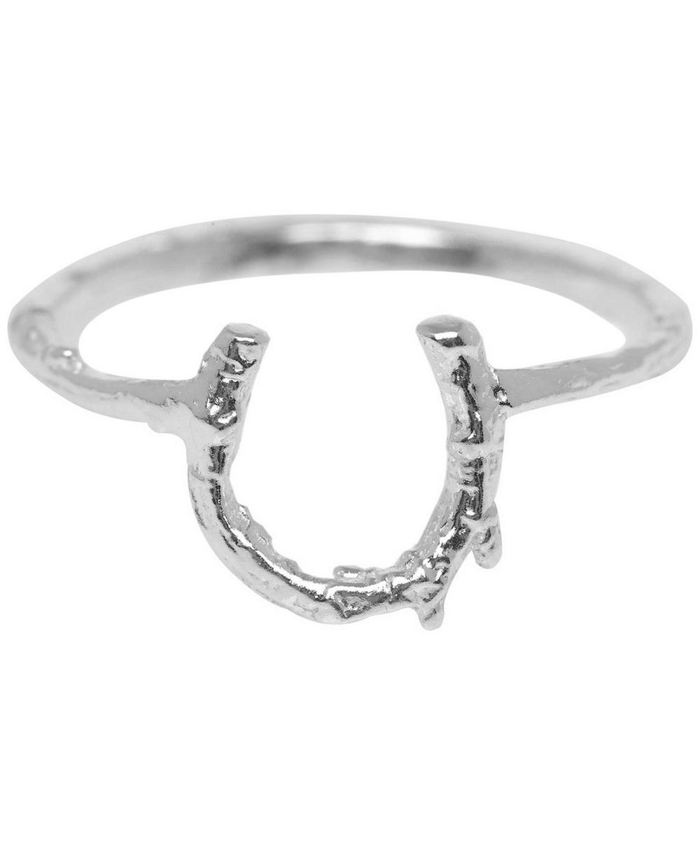 ALEX MONROE SILVER BABY HORSESHOE RING