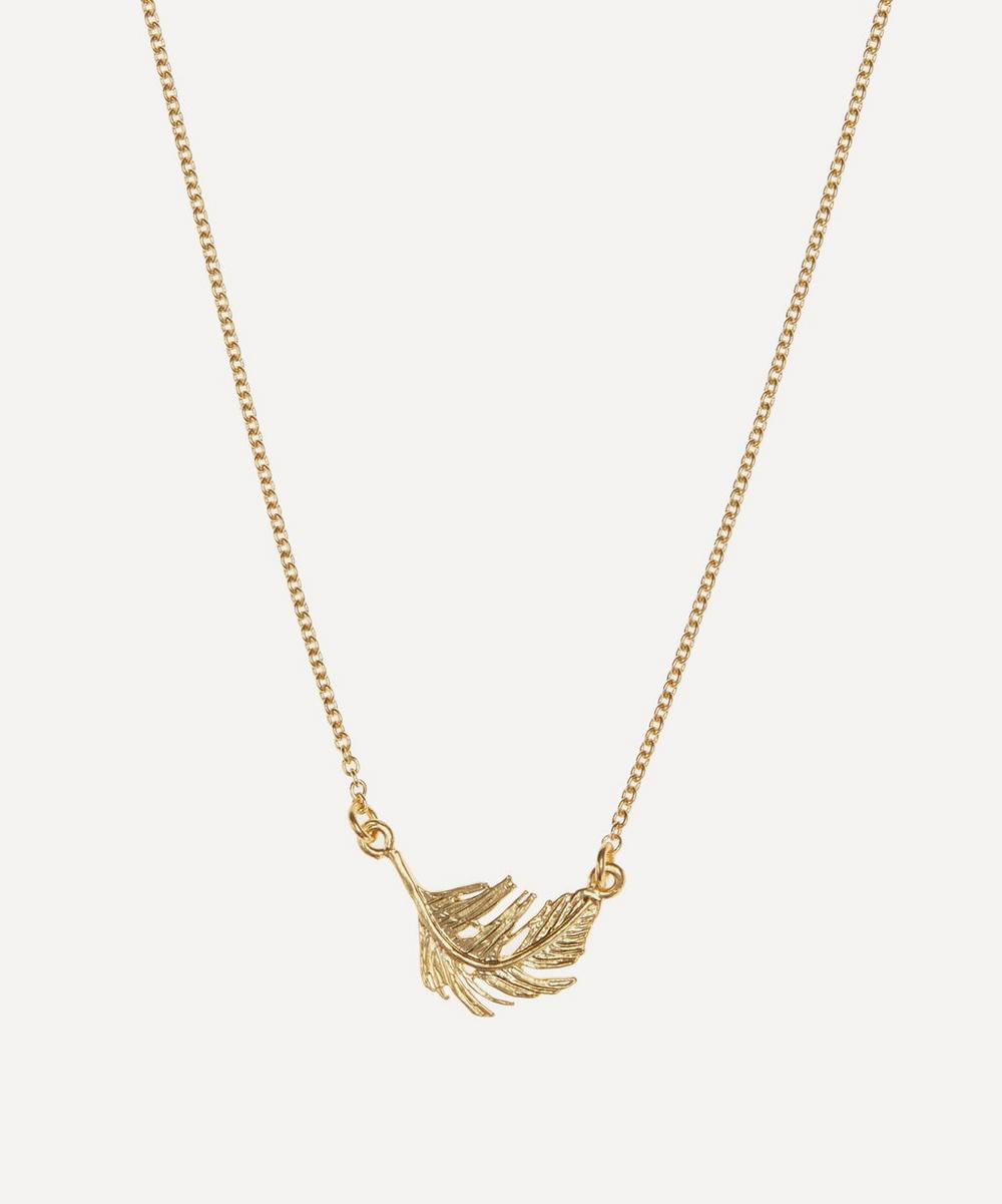 Alex Monroe - Gold-Plated Little Feather Inline Pendant Necklace