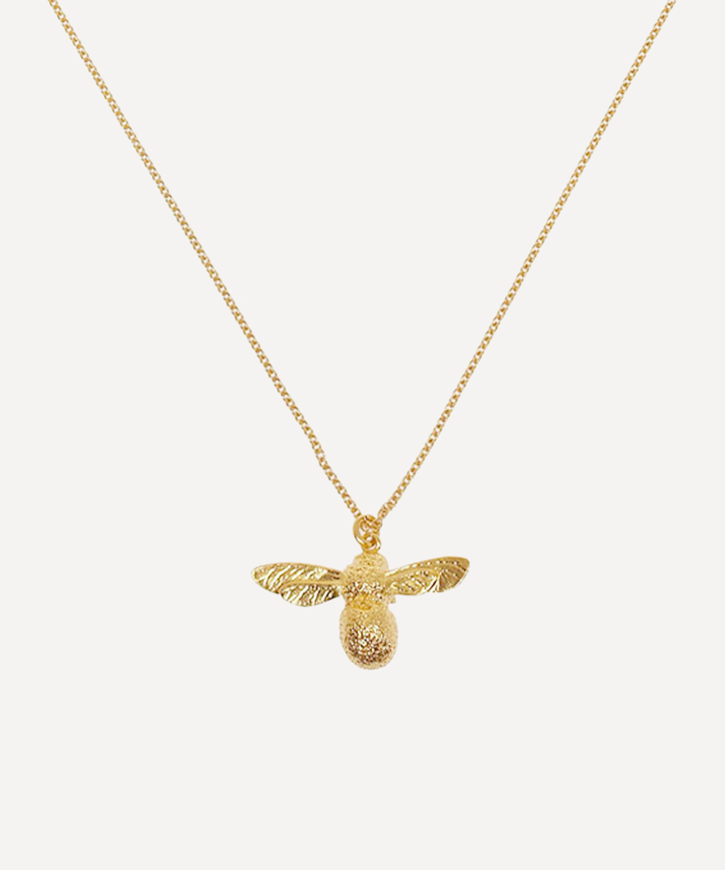 e39f07e1b37c7 Gold-Plated Baby Bee Necklace