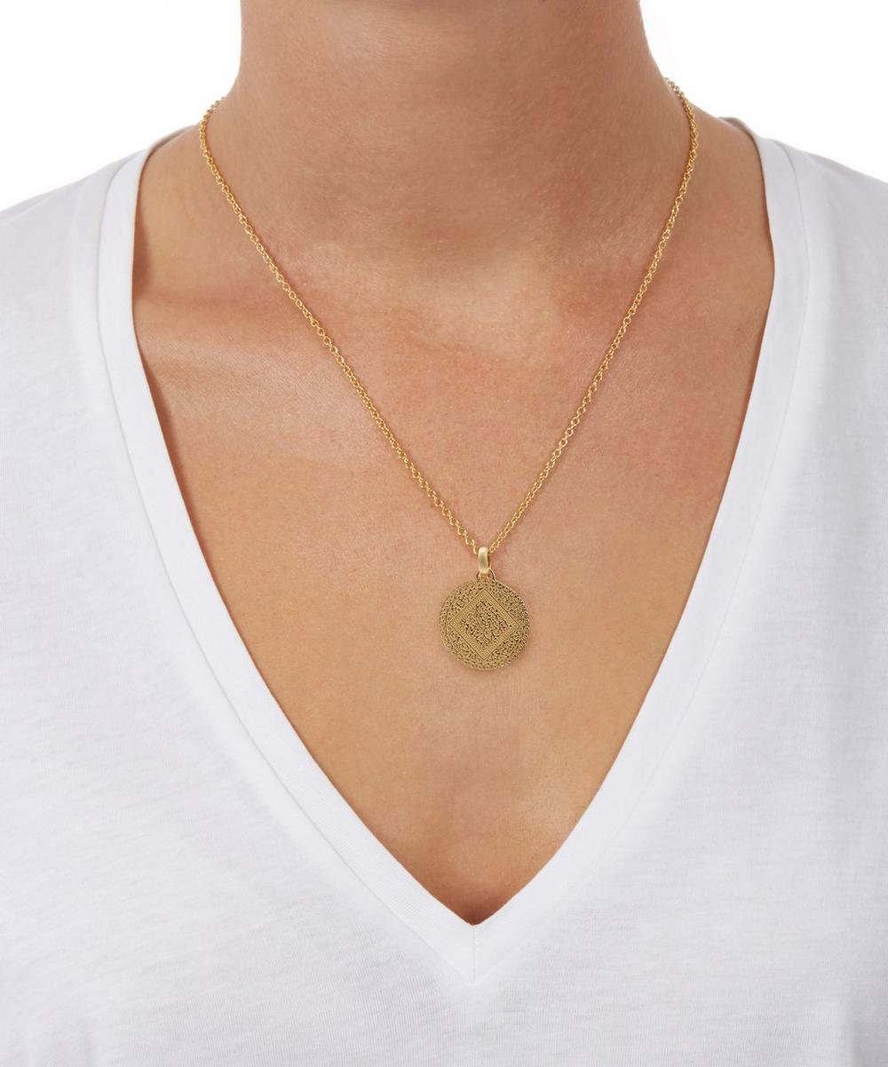 Mini Marie Pendant, Rose Gold Vermeil on Silver Monica Vinader
