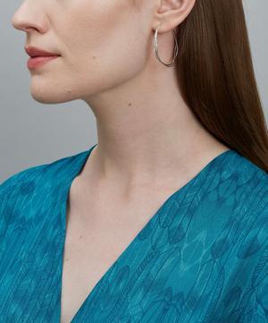 Silver Fine Twist Hoop Earrings