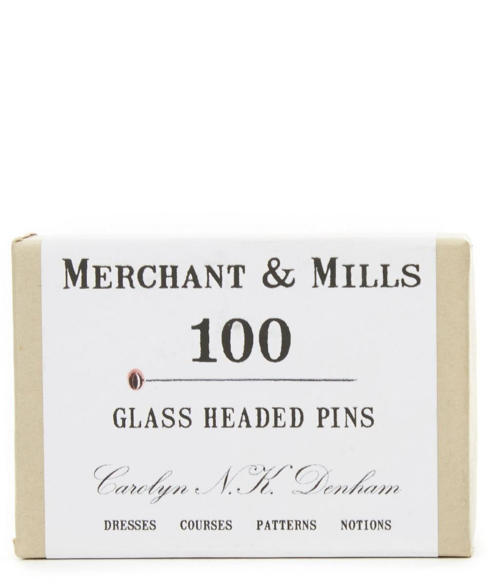 100 Glass Headed Pins