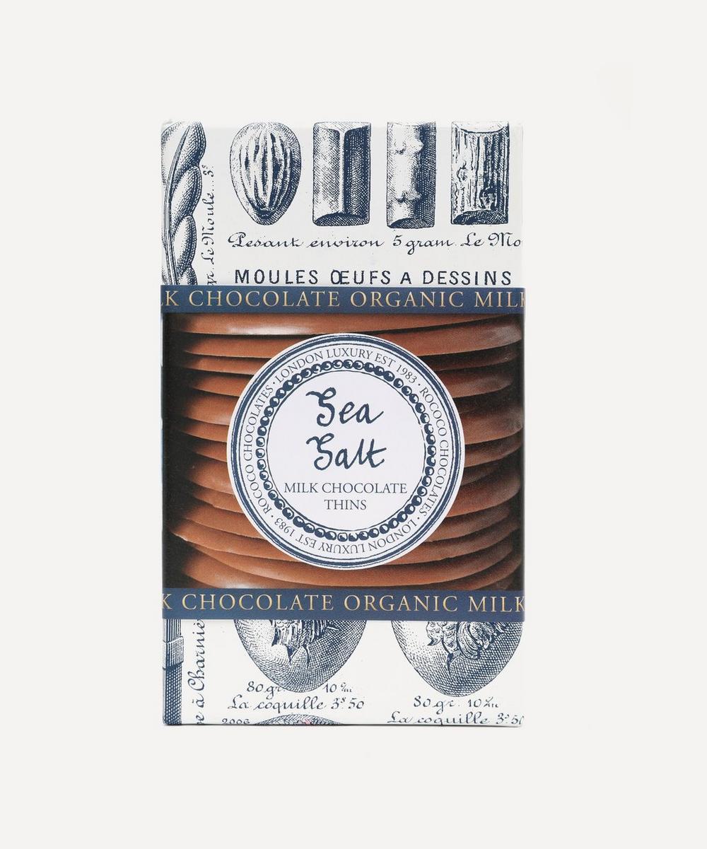 Rococo - Organic Sea Salt Milk Chocolate Thins 150g