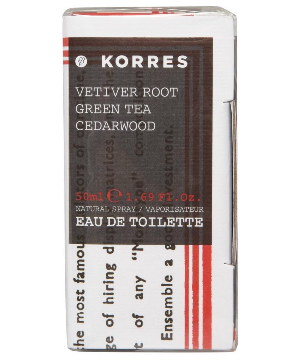 Vetiver Root Green Tea and Cedarwood Eau de Toilette 50ml
