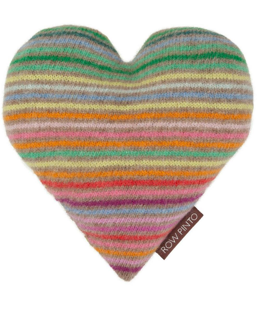 Striped Lavender Blossom Heart