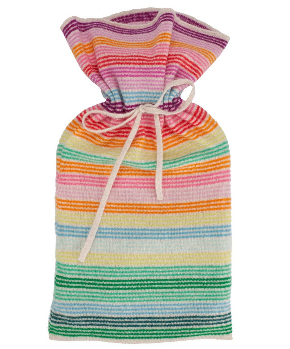 Rainbow Stripe Hot Water Bottle