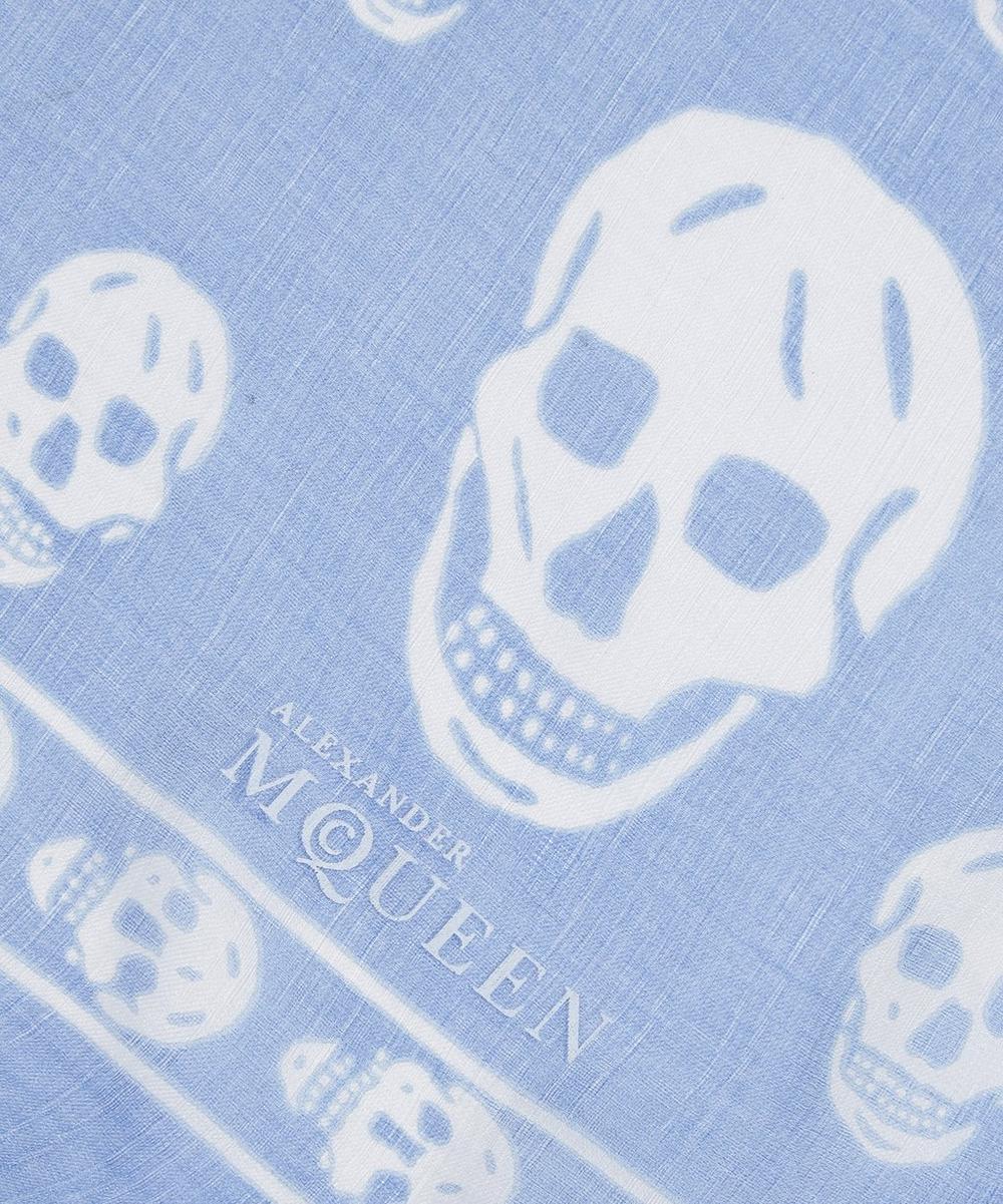 Classic Skull Print Silk Scarf