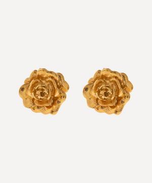 Gold-Plated Rose Damasca Stud Earrings