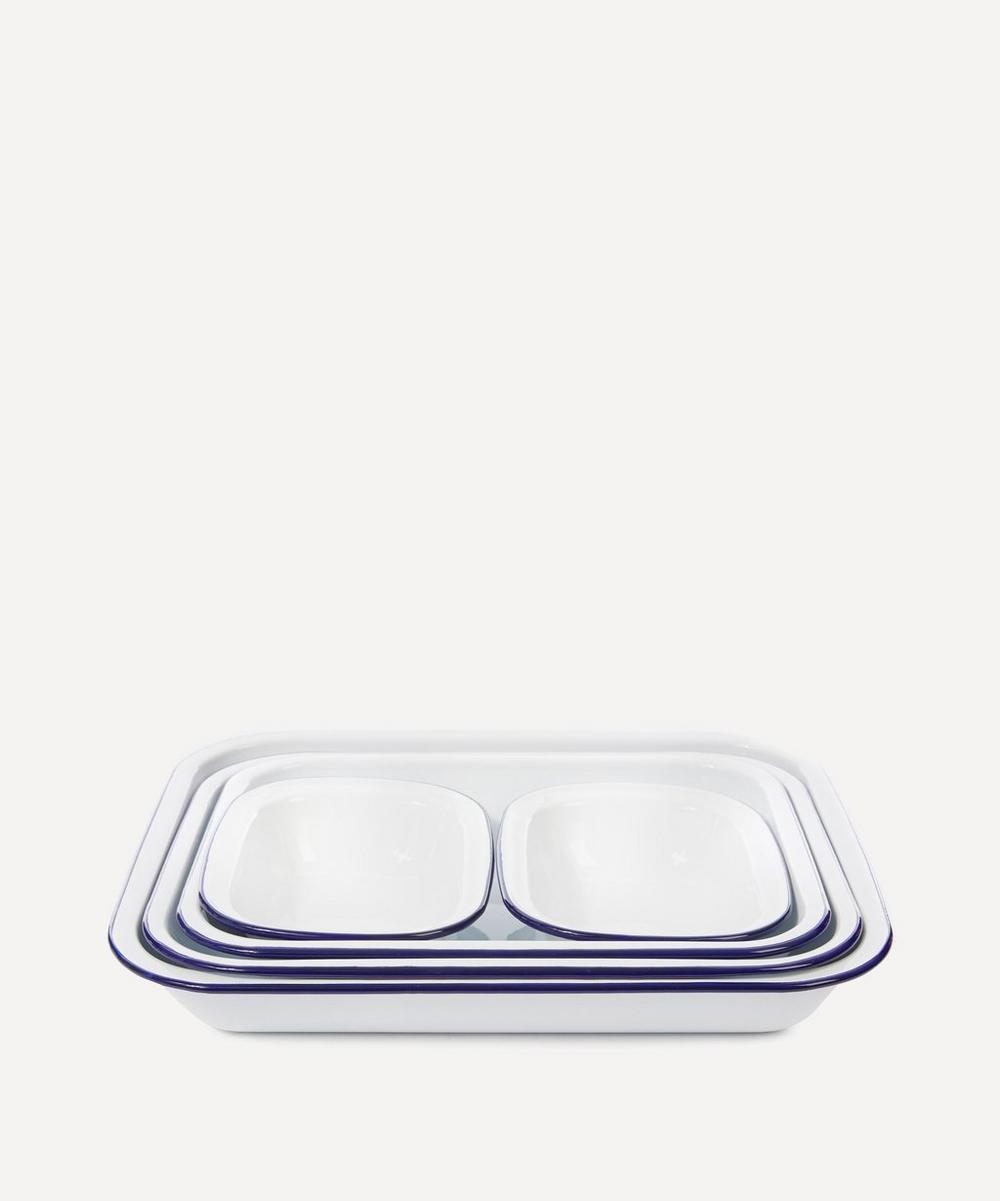 Enamel Baking Dishes Set of Five